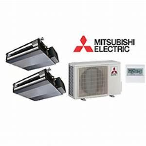 Mitsubishi Mr Slim 2 Zone Ducted Heat Pump With 12k   12k