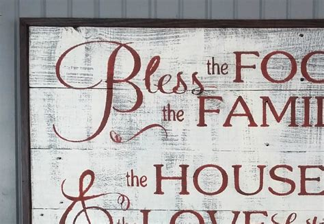 farmhouse home designs bless the food before us sign my repurposed