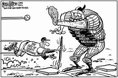 Sports Times York Cartoon Cartooning Paper Ink