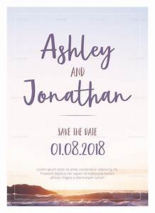 Special Beach Wedding Invitation Design Template In Psd