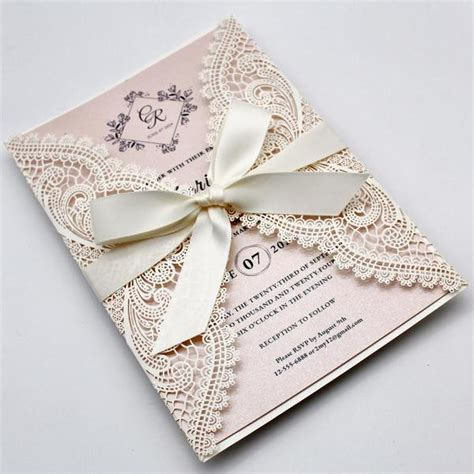 Laser Cut Wedding Invitations by Picky Bride