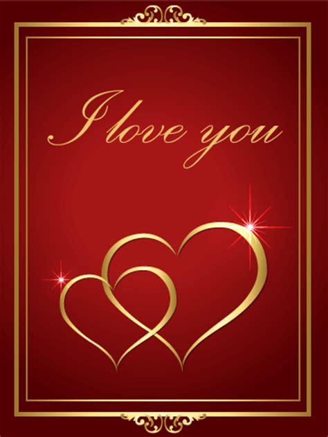 elegant golden heart love greeting card birthday