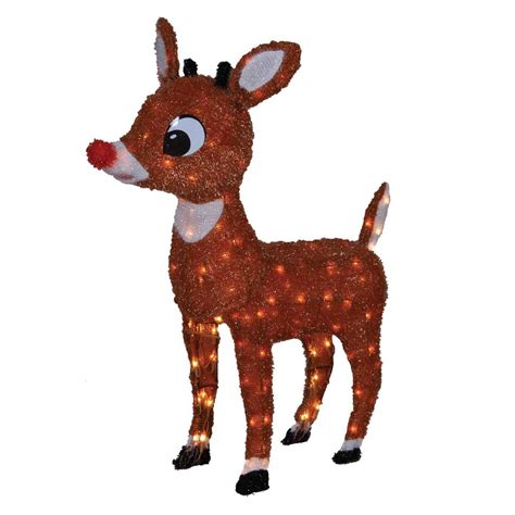 rudolph the red nosed reindeer friends tinsel outdoor