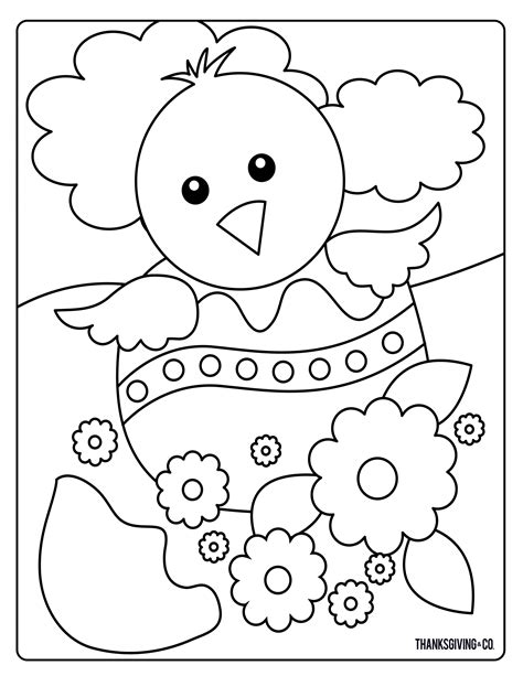 sweet  sunny spring easter coloring pages thanksgivingcom