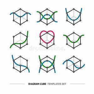 Diagram Cube Logo Set Stock Vector  Illustration Of