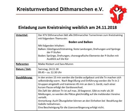 einladung zum kreistraining weiblich am 24 11 2018 ktv
