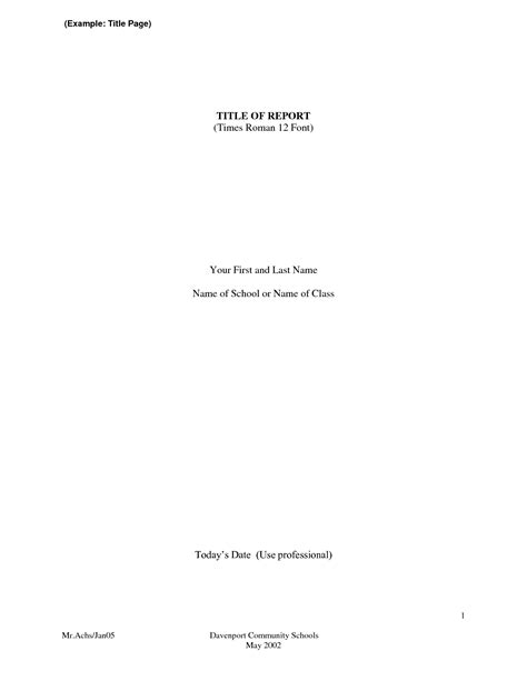 title page abstract template research paper sle titles bamboodownunder
