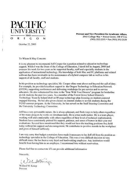 recommendation letter for student docoments ojazlink