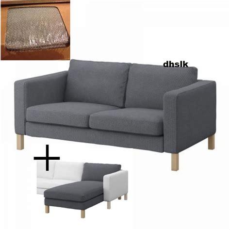 ikea karlstad loveseat cover ikea karlstad 2 seat sofa and chaise slipcovers korndal