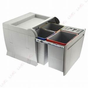 poubelles a tri selectif de cuisine coulissante ou en inox With poubelle de tri cuisine