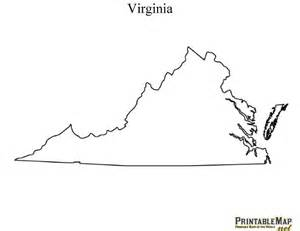 Virginia State Map Outline Printable