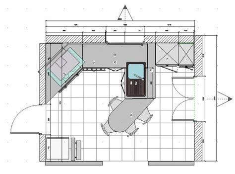 plan type de cuisine mode projet