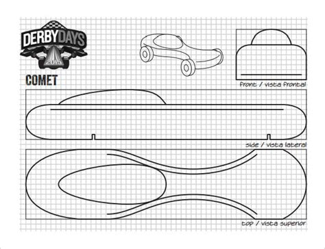 Pinewood Derby Design Template by 27 Awesome Pinewood Derby Templates Free Sle