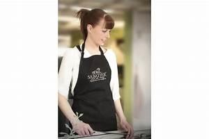 Tablier De Cuisine Professionnel : tablier cuisine sabatier 90x100cm en coton noir ~ Teatrodelosmanantiales.com Idées de Décoration