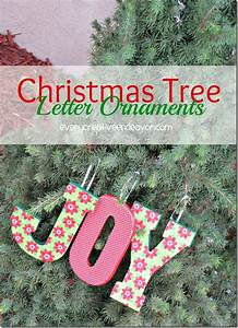 10 fun christmas ornament exchange ideas everyday parties for Letter ornaments for christmas tree