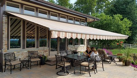 retractable awnings window patio porch awnings aristocrat
