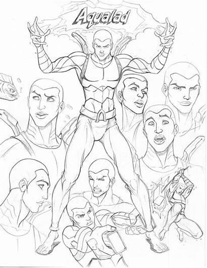 Justice Young Aqualad Drawings Deviantart Cd Nathanscomicart