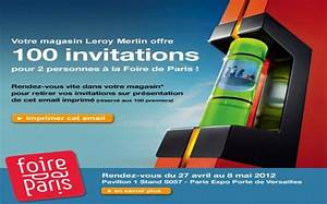 Place Gratuite Foire De Paris : foire de paris 2012 invitations gratuites ~ Melissatoandfro.com Idées de Décoration