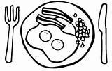 Breakfast Coloring Printable Bacon Worksheet Getcolorings Healthy Printablee Via Colorings sketch template