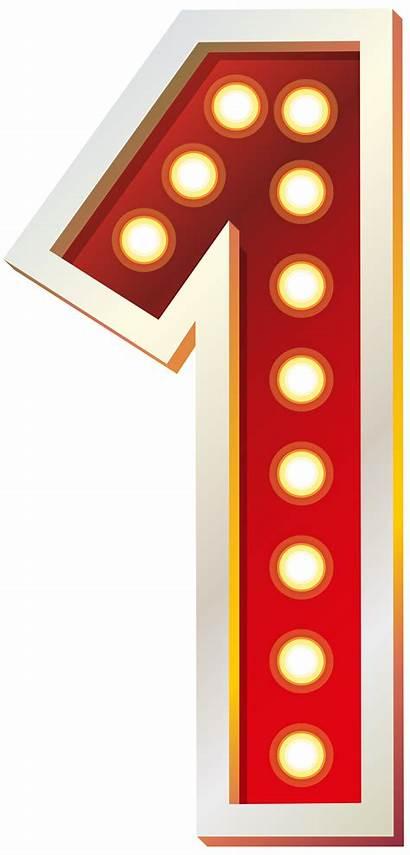 Number Clip Lights Clipart Numbers Decorative Transparent