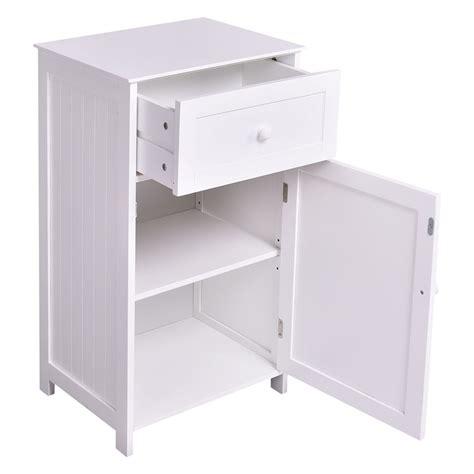 Bath Storage Cabinet by Kitchen Bathroom Storage Cabinet Floor Stand White Wood