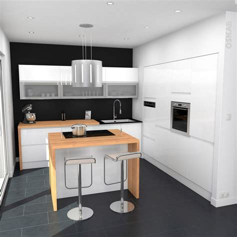 modele cuisine noir et blanc 95 best images about cuisine équipée ouverte oskab on