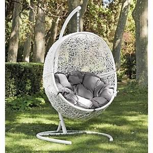 Fauteuil Suspendu Sur Pied : fauteuil de jardin suspendu balancelle c t maison ~ Melissatoandfro.com Idées de Décoration