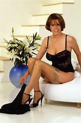 Glamour stockings redhead christina