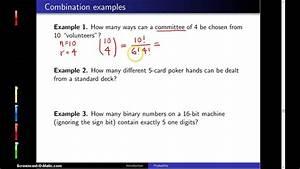 Combinations, --, Example, 1