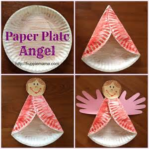 christmas tree paper plate crafts images