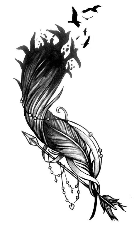 tatouage plume oiseaux qui  envolent cochese tattoo
