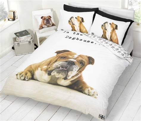 bull dog bulldog duvet cover or cushion cover bedding bed