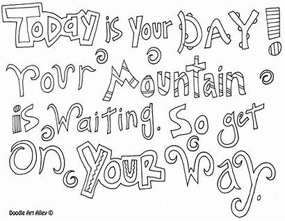 Coloring Seuss Dr Pages Printable Quotes Sheets