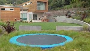 In Ground Trampolin : backyard trampoline ideas in ground trampoline youtube ~ Orissabook.com Haus und Dekorationen