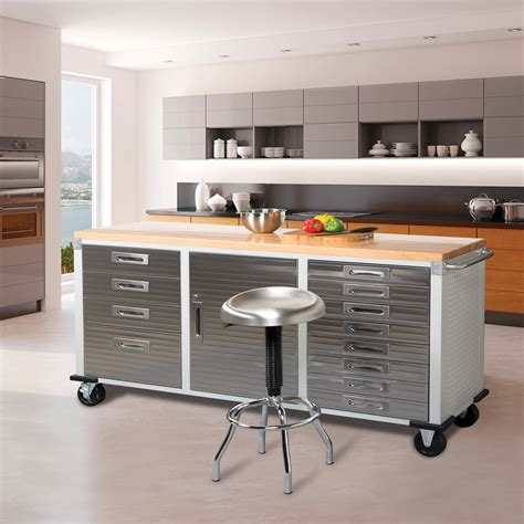 Garage Cabinets In Kitchen by Seville Classics Ultrahd 12 Drawer Rolling Workbench In