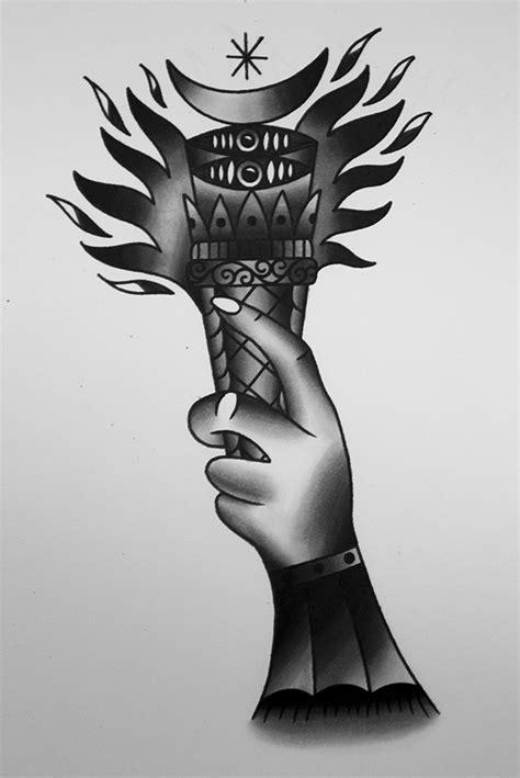 traditional torch tattoo design  genotas  deviantart