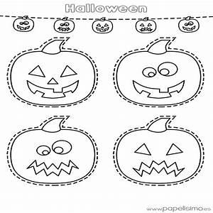 Dibujos De Calabazas De Halloween Para Recortar Papelisimo ...