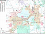 Madison Wisconsin Zip Code Wall Map (Premium Style) by ...