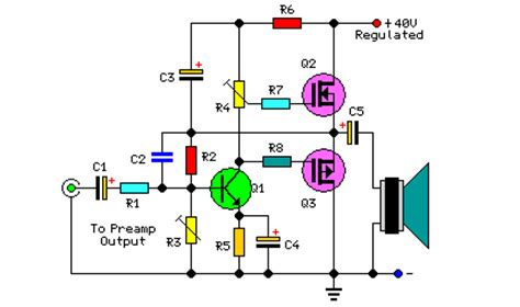 watt audio power amplifierirf circuit diagram world