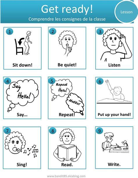 Consignes De Classe En Anglais