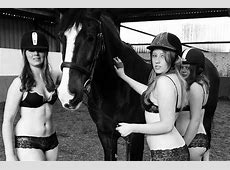 Students strip off and saddle up for charity calendar