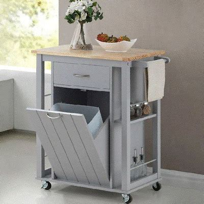 rolling kitchen island portable microwave stand cart