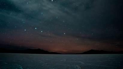 Night Sky Dark Landscape Starry Mountains 1080p