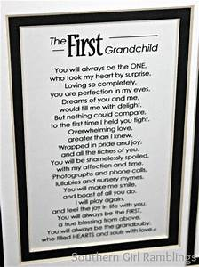 mother39s day gift idea my first grandchild frame With letter my first grandson