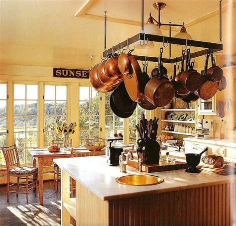 incredible hanging rack kitchen decor ideas