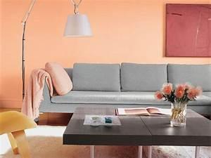 Graues Sofa Welche Wandfarbe : wandfarbe apricot warm und gem tlich ~ Bigdaddyawards.com Haus und Dekorationen