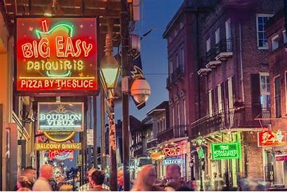 Orleans French Quarter Bourbon Street Nightlife Louisiana