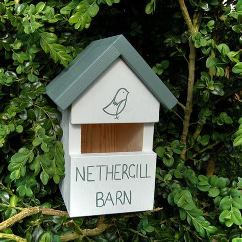 handmade house  robin bird box birdhouses