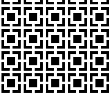 moroccan square  black  white wallpaper fridabarlow