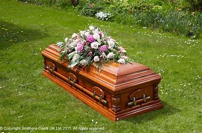Coffin Spray Traditional Pink Flowers Funeral Mt
